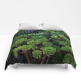 Succulent valley Comforters