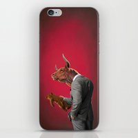 bull iPhone & iPod Skins featuring Bull by rob art | illustration