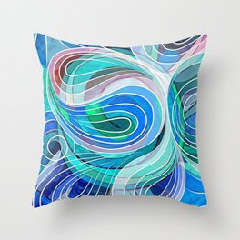 Everything Is Created Imperfect Mediterranean Waters Throw Pillow
