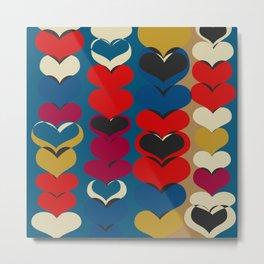 HAPPY HEARTS N17 Metal Print