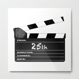 25th Year Clapperboard Metal Print