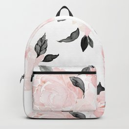 Vintage Blush Floral - BW Backpack