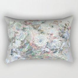 Delicate vintage subtle pastel floral abstract Rectangular Pillow