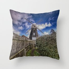 Footpath To Field Mill Throw Pillow