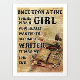 Writer Writer  Once Upon A Time Art Print