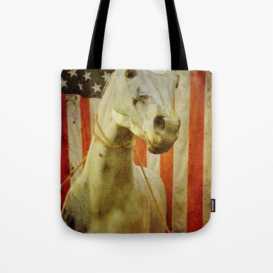 Portrait of an American Horse Tote Bag