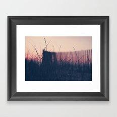 beach sunset II Framed Art Print