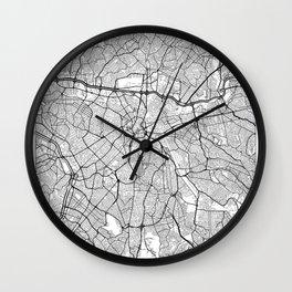 Sao Paulo Map White Wall Clock