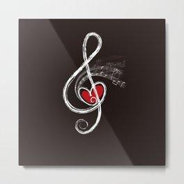 Music And Love Metal Print
