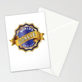 World's okayest goalie Stationery Cards