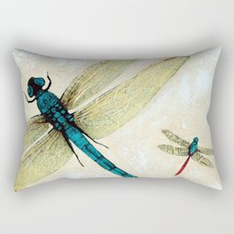 Zen Flight - Dragonfly Art By Sharon Cummings Rectangular Pillow