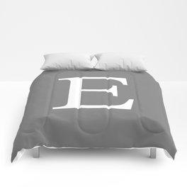 Darker Gray Basic Monogram E Comforters