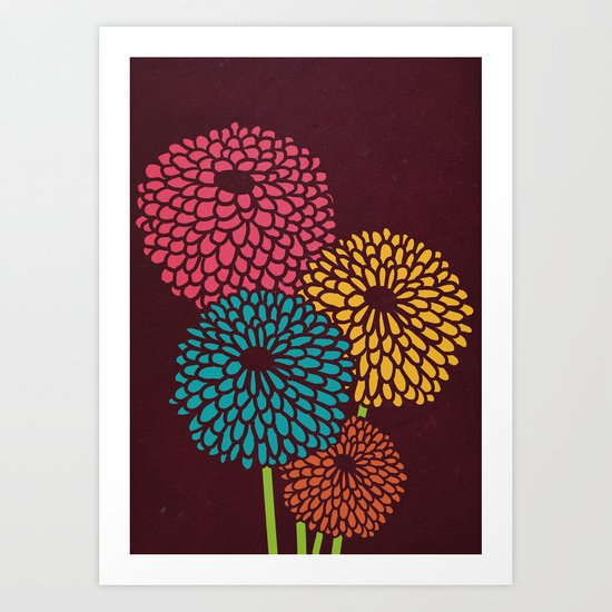 Still Life Chrysanthemum Art Print