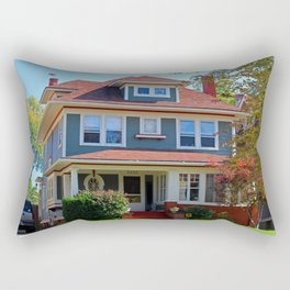 Old West End Blue 22 Rectangular Pillow