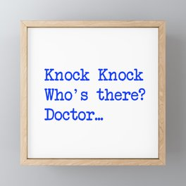 Knock-Knock 3 Framed Mini Art Print