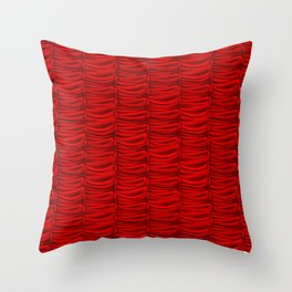 red silk curtains Throw Pillow