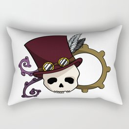 Steampunk Skull Rectangular Pillow