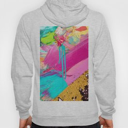 Abstract Acrylic brushstrokes and sequins Hoody