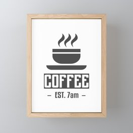 Morning Coffee Fix Framed Mini Art Print