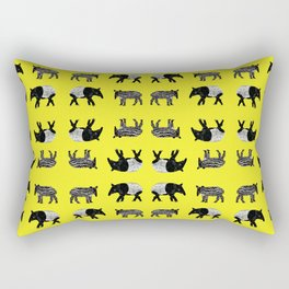 Dance of the Tapirs Rectangular Pillow