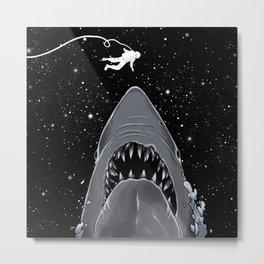 Astronaut Meet the Jaws Metal Print