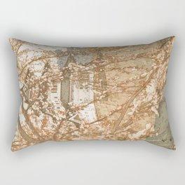 Hirosaki Castle Showa Period Hiroshi Yoshida Modern Japanese Woodblock Print Rectangular Pillow
