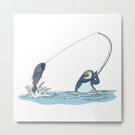 Angler penguin fishes fish Metal Print