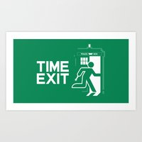 Time Exit - right panel Art Print