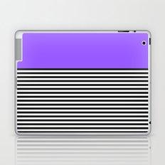 STRIPE COLORBLOCK {PURPLE} Laptop & iPad Skin