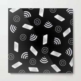 Techy Wi-Fi Metal Print