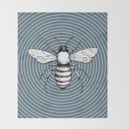 Pop Art  Bee Throw Blanket