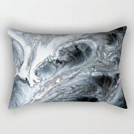 B&W Abstract Cells Rectangular Pillow