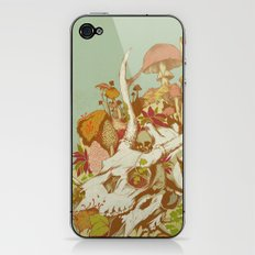 skulls in spring iPhone & iPod Skin