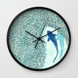 Tiger Shark Hunting Wall Clock