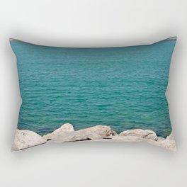 The calming beach view Rectangular Pillow