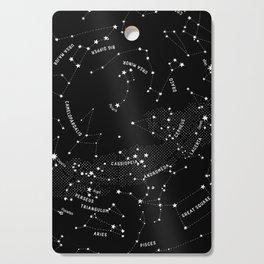Constellation Map - Black Cutting Board
