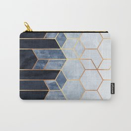 Soft Blue Hexagons Carry-All Pouch