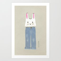Outfit for a Saturday Morning Art Print