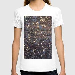 New York. Graffiti, Abstract, Blue, Purple, Pollack, Jodilynpaintings, Splatter T-shirt