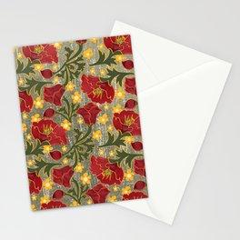Vintage Crepe Floral Stationery Cards