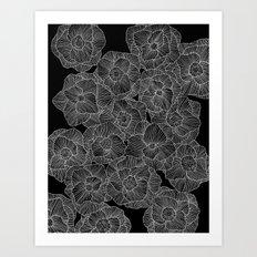 In Bloom (b&w) Art Print
