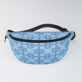 Dark blue and turquoise pattern with eyes Fanny Pack