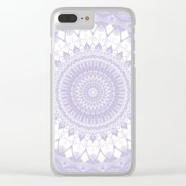 Boho Pastel Purple Mandala Clear iPhone Case