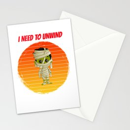 mummy for people who like mummies, monsters, and other halloween horrors  Stationery Cards