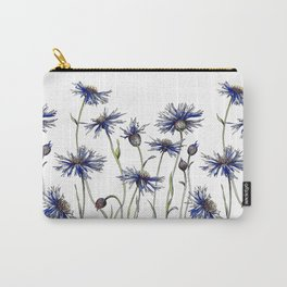 Blue Cornflowers, Illustration Carry-All Pouch