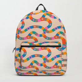 VINTAGE GAME BOARD in Candy Colours Light Backpack