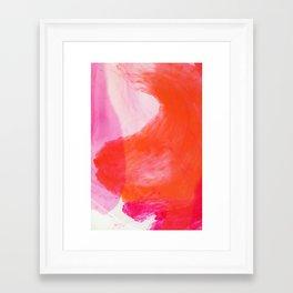 Orange Ink Framed Art Print