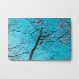 Blue Sky Drama - Abstract Metal Print
