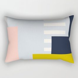 Carson Abstract Geometric Print in Multi Rectangular Pillow