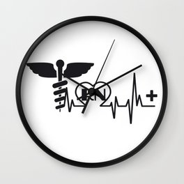 Heartbeat Nurse RN Gift Wall Clock